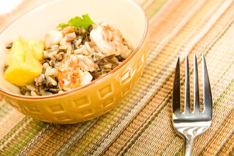 Krevety zázvorové chuti na sladkém rizotu