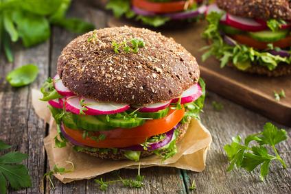 Studený vegetariánský burger